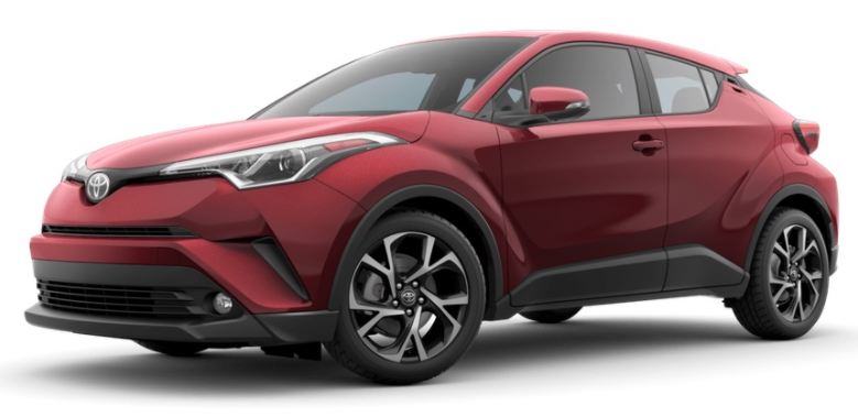 2017 Toyota CH-R color option ruby flare pearl