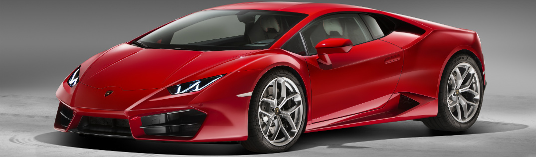 Lamborghini Huracan red side view