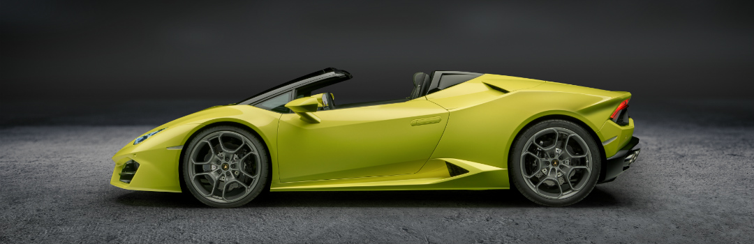 Lamborghini Huracan top down yellow