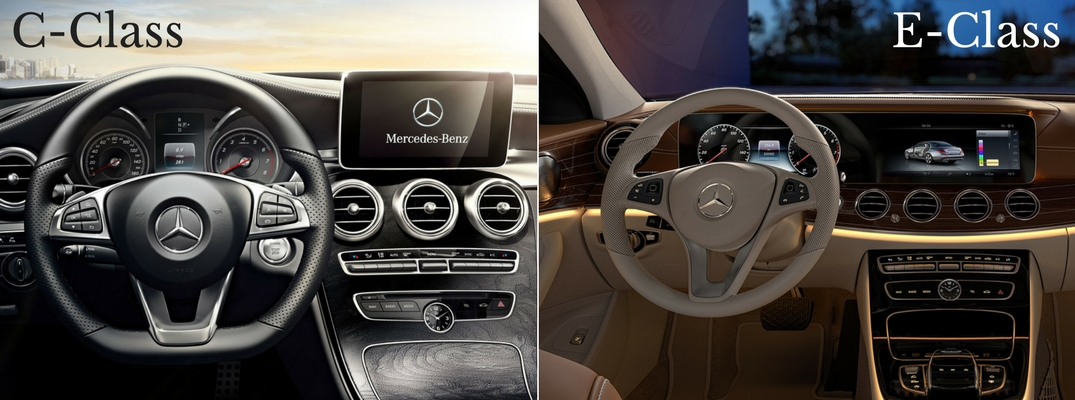2017 mercedes benz c class vs e class sedans. Black Bedroom Furniture Sets. Home Design Ideas