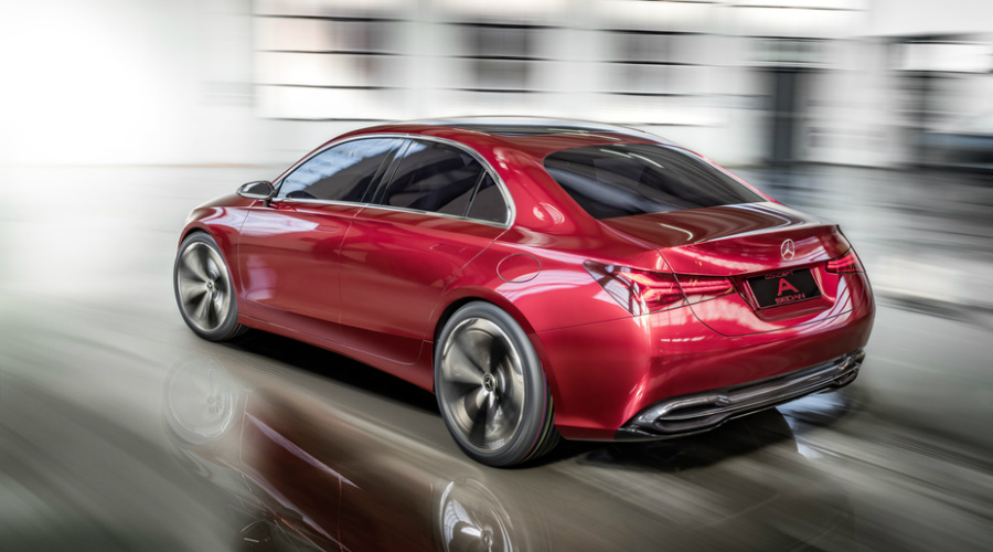 Photo gallery of the 2018 mercedes benz concept a sedan for Mercedes benz of fayetteville