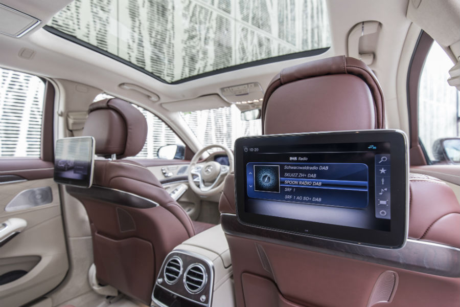 tech features in the 2018 mercedes benz s class silver