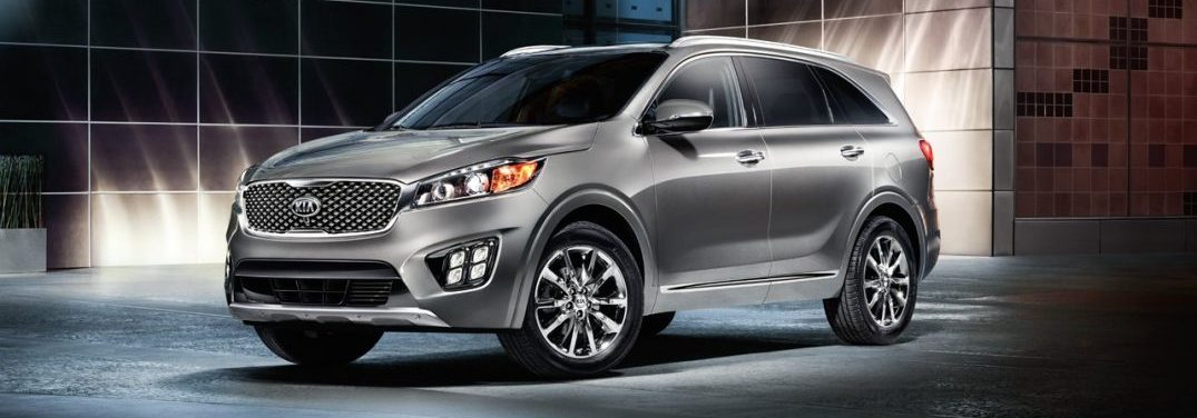 Front driver side profile of the 2018 Kia Sorento