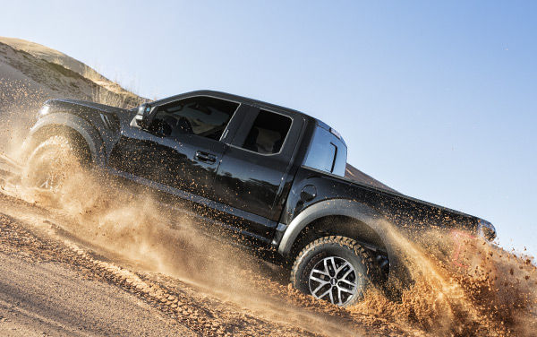 2017 Ford Raptor off-roading on sand