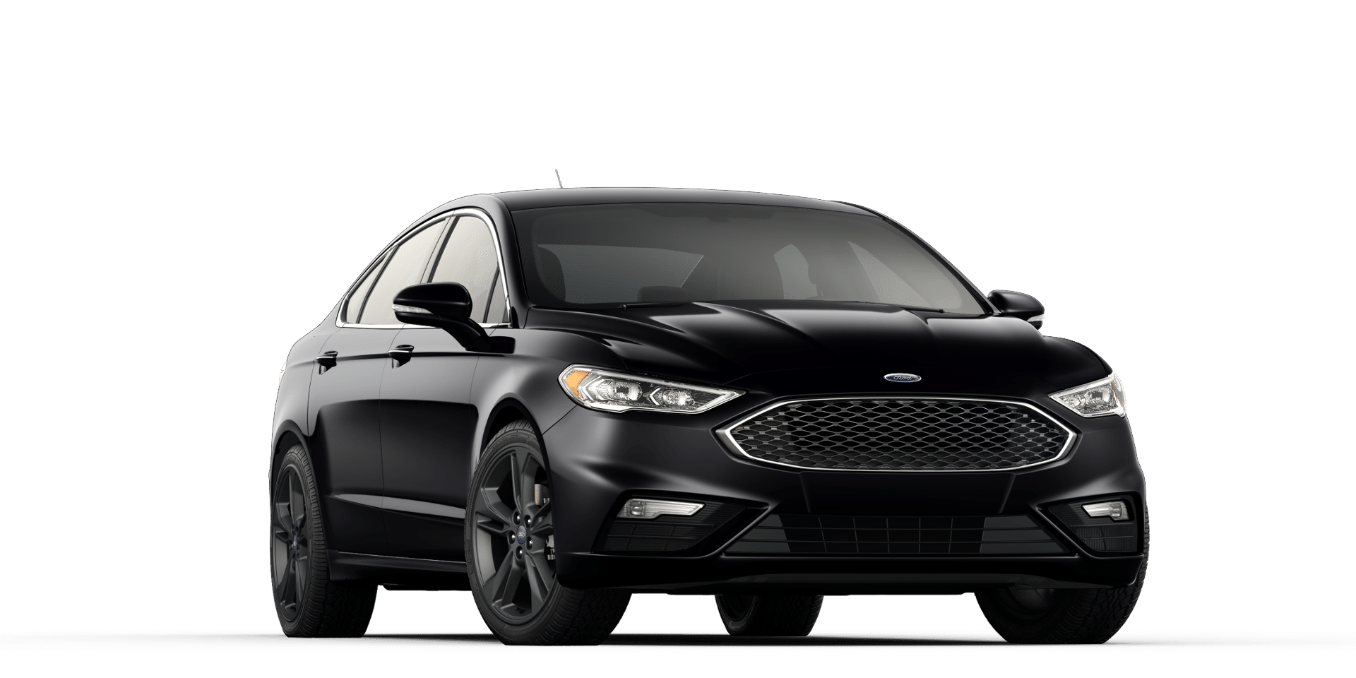 2017 Ford Fusion Sport with black wheels