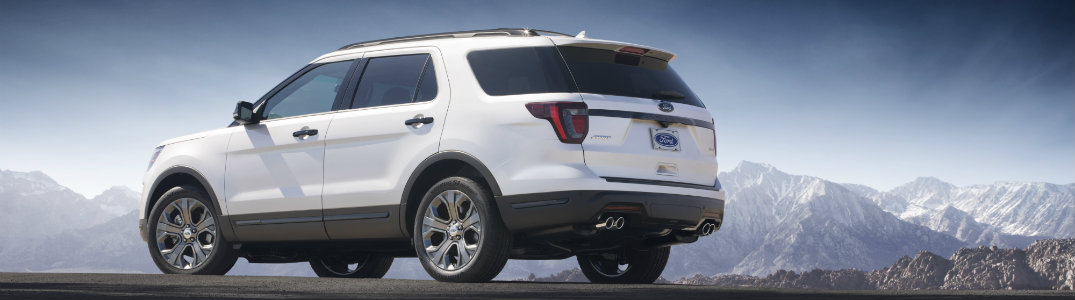 2018 Ford Explorer which back