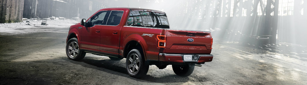 2018 Ford F-150 back red