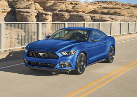 2017 Ford Mustang Blue front