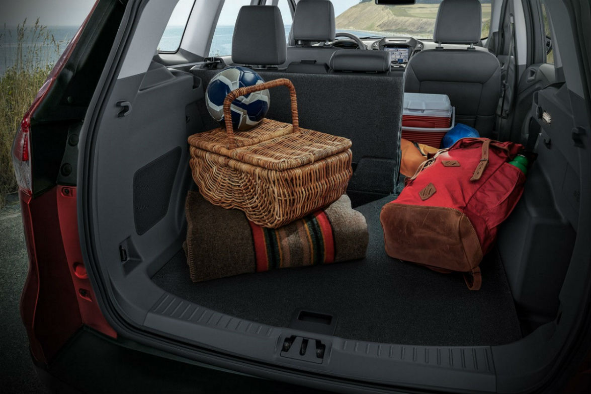 Rear cargo hold of 2017 Ford Escape