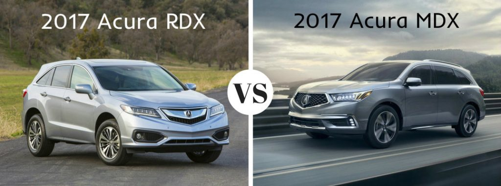 2017 acura rdx vs 2017 acura mdx. Black Bedroom Furniture Sets. Home Design Ideas