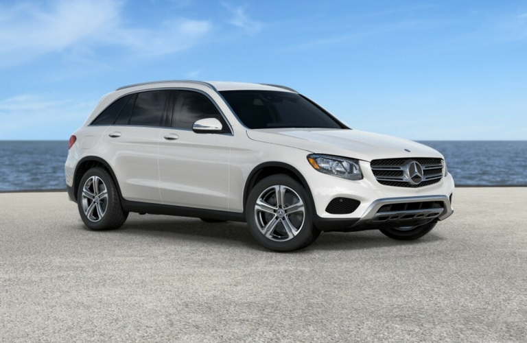 2017 mercedes benz glc exterior color options for White mercedes benz suv