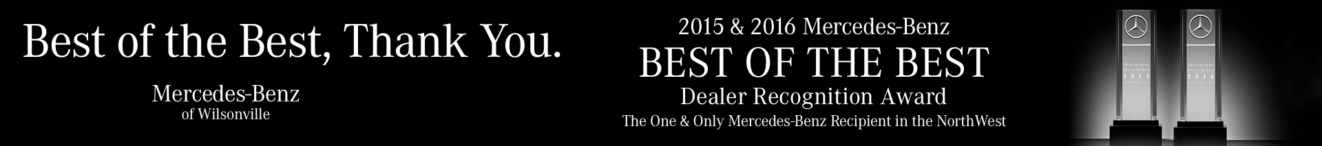 What is the Mercedes-Benz Best of the Best Award?