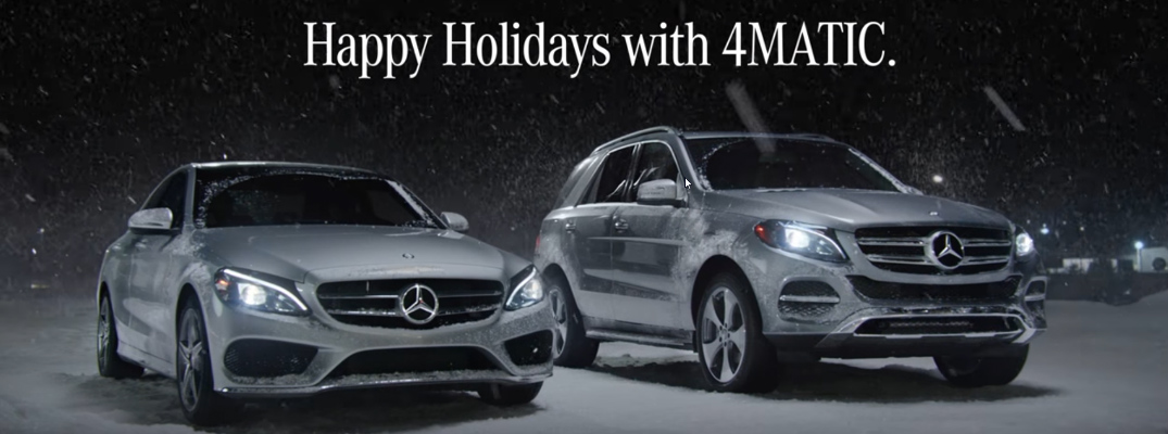 Mercedes-Benz Snow Date Commercial and Christmas Card