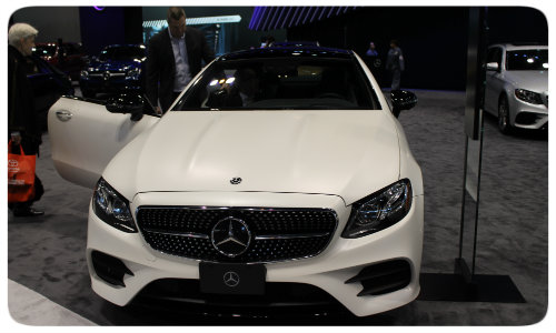 2018 Mercedes-Benz E-Class Coupe front end Chicago Auto Show