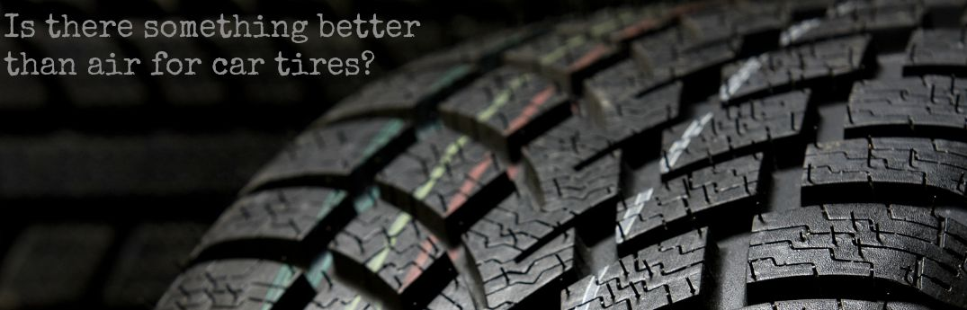can tires be filled with something other than air