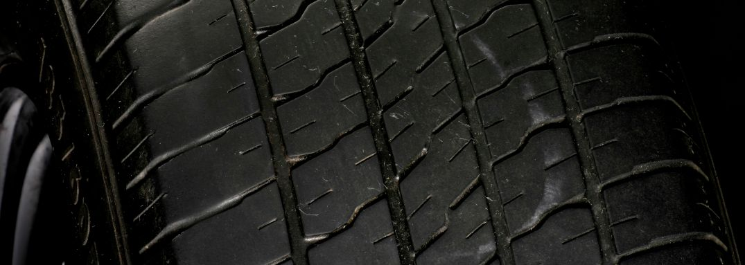 used car tires on vehicle