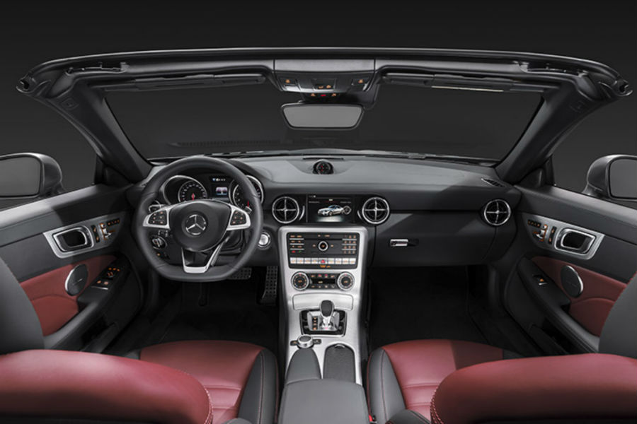 2017 Mercedes-Benz SLC front interior driver dash and display audio_o