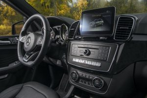 2017 Mercedes-AMG GLE43 Coupe SUV front interior driver dash and display audio_o