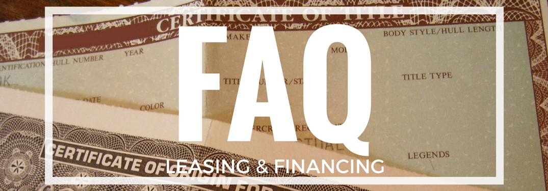 Vehicle Lease Information and Finance Frequently Asked Questions