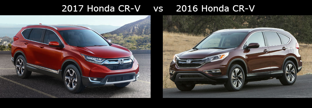 2017 Honda CR-V vs 2016 Honda CR-V