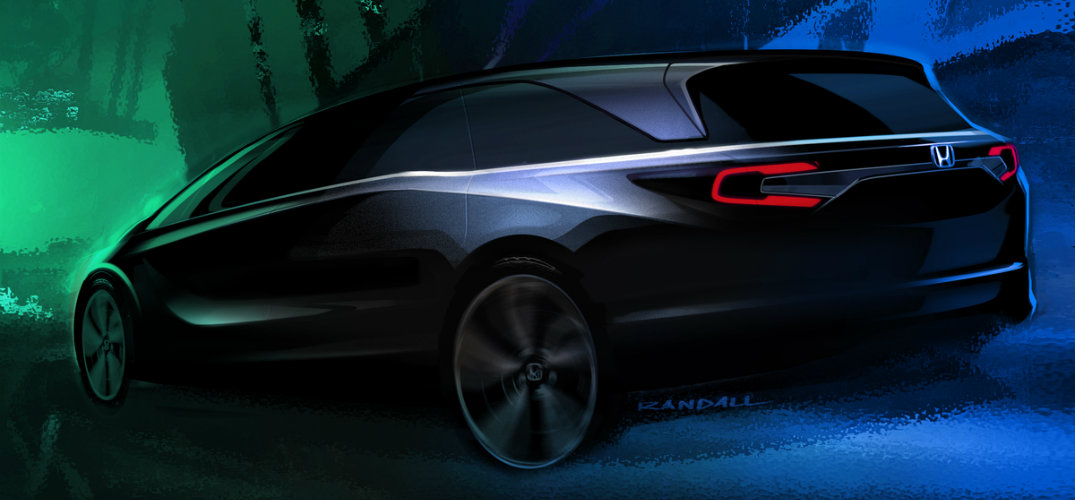 teaser sketch of the 2018 Honda Odyssey