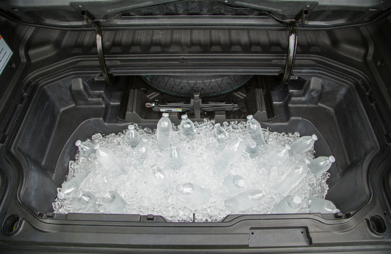 2017 Honda Ridgeline In-Bed Trunk filled with ice