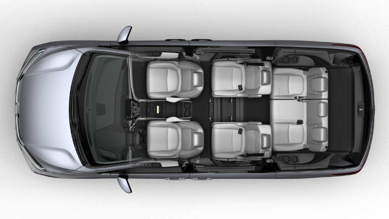 possible seven-seat Wide configuration of the 2018 Honda Odyssey with Magic Slide Seats