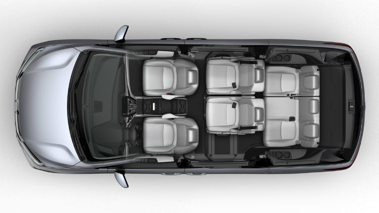 possible seven-seat configuration of the 2018 Honda Odyssey with Magic Slide Seats