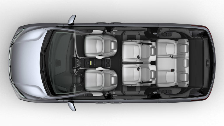 possible seven-seat Buddy mode configuration of the 2018 Honda Odyssey with Magic Slide Seats