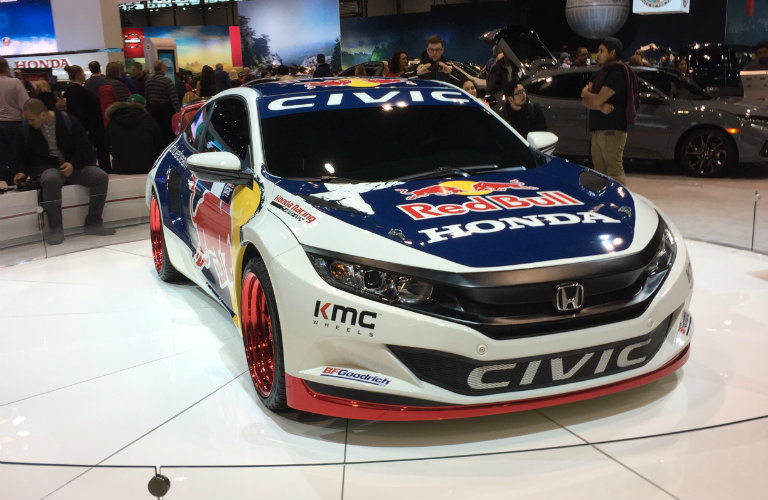 front view of 2016 Honda Civic Red Bull Racing Coupe at the 2017 Chicago Auto Show