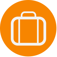 orange luggage icon