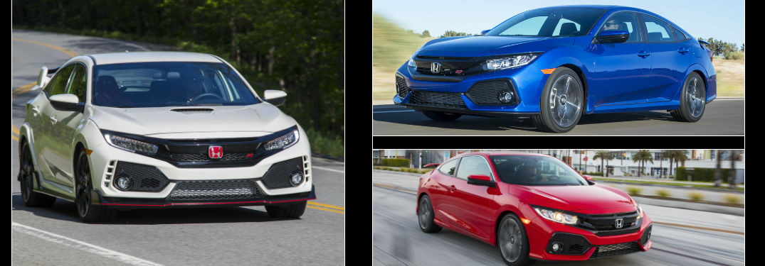 2017 Honda Civic Type R vs 2017 Honda Civic Si