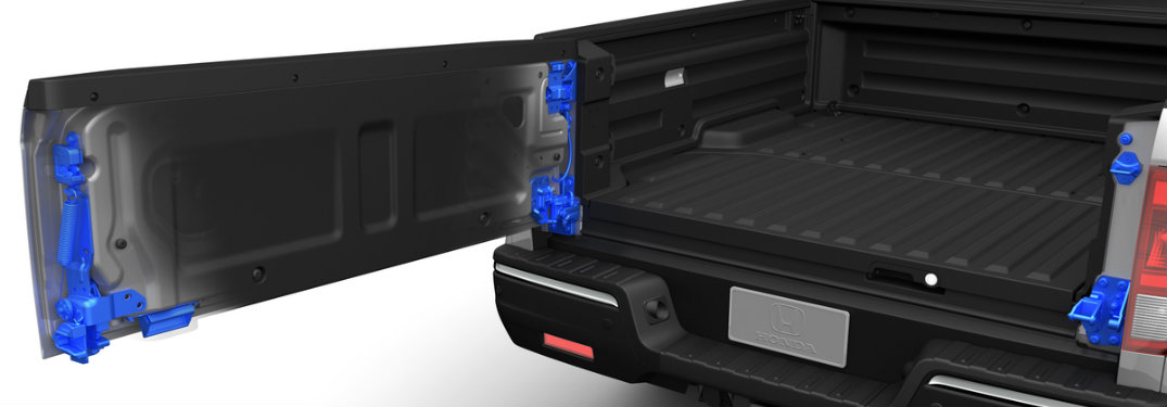 How does the Honda Ridgeline Dual-Action Tailgate work?