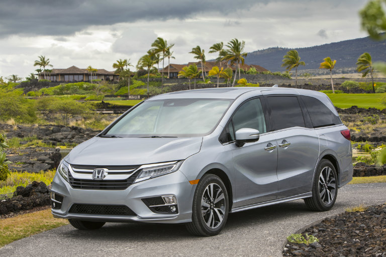 Somewhat Sideways View Of The 2018 Honda Odyssey From Front