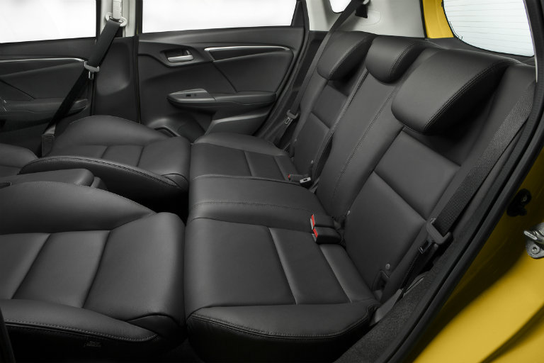 front seats down in the 2018 Honda Fit to maximum rear seat lounging