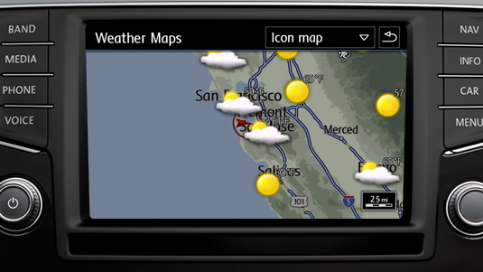 Weather for Volkswagen's Car-Net Guide and Inform