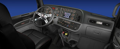 Peterbilt 389 dash and steering wheel