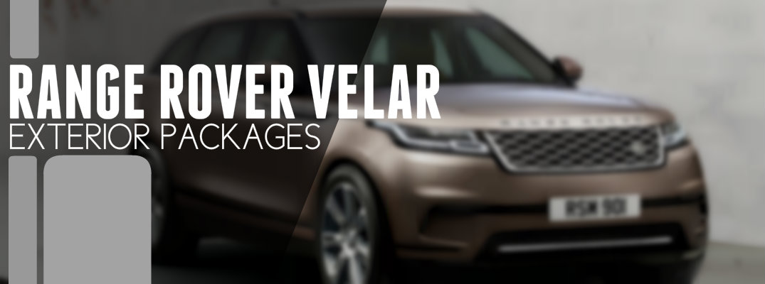 2018 Land Rover Velar Exterior package Options