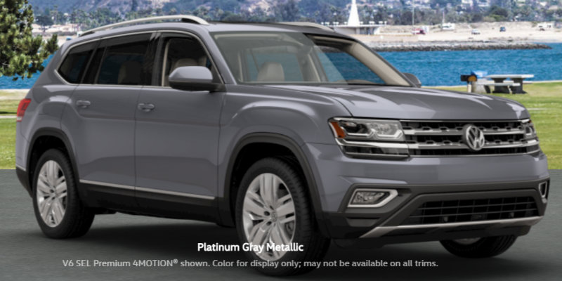 2018 Volkswagen Atlas colors