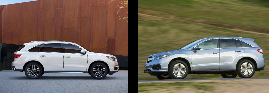 2017 acura mdx vs 2017 acura rdx comparison. Black Bedroom Furniture Sets. Home Design Ideas
