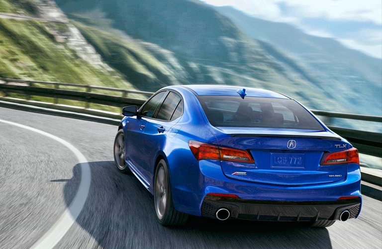 Rear view of 2018 Acura TLX