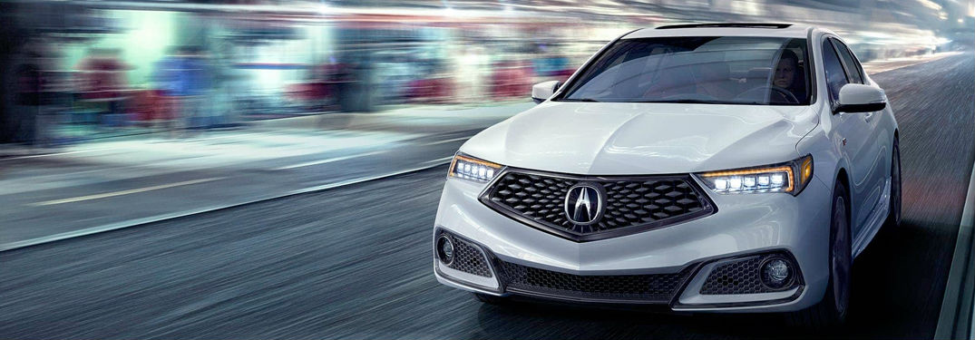 2018 Acura TLX model in white