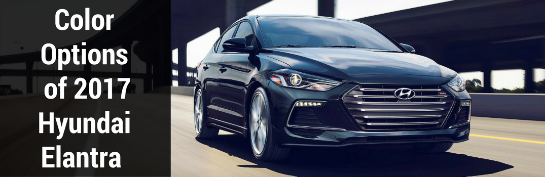 color options of 2017 hyundai elantra