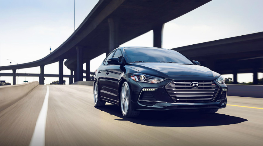 2017 Hyundai Elantra driving on highway