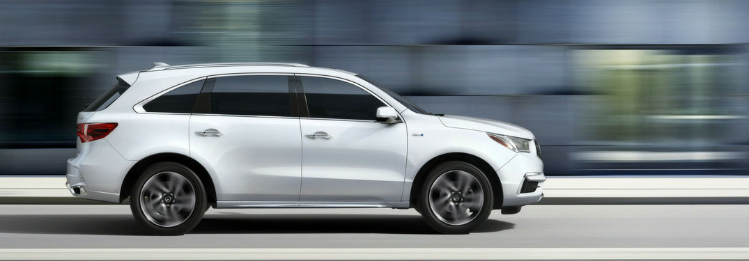New Acura MDX model side view