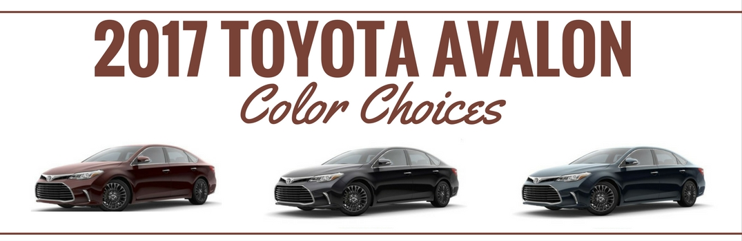 2017 Toyota Avalon Exterior Paint Color Choices
