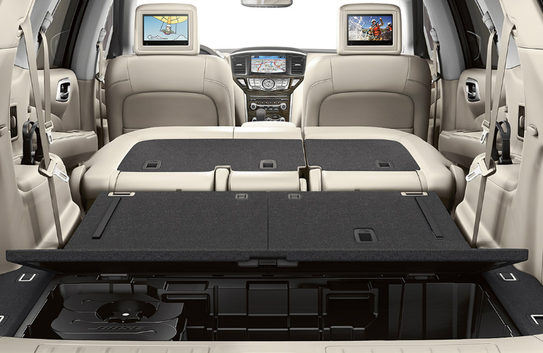 what is the cargo capacity of the 2017 nissan pathfinder. Black Bedroom Furniture Sets. Home Design Ideas