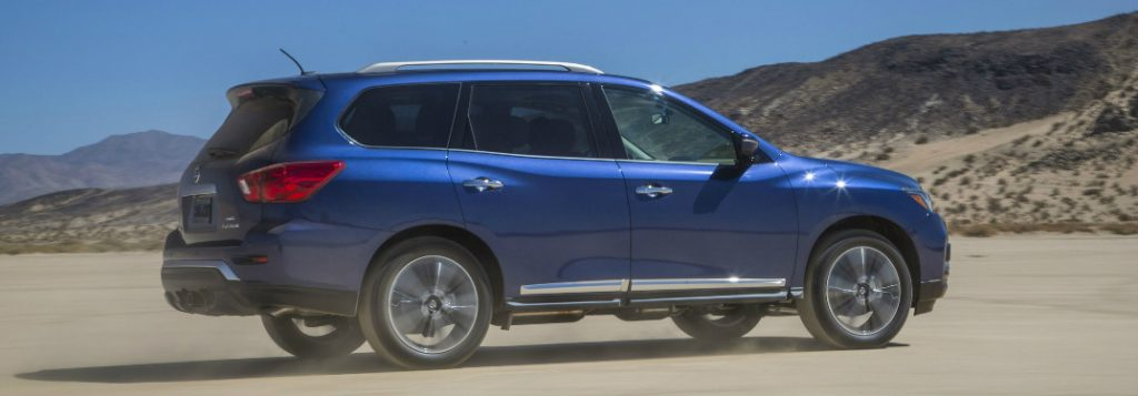 What is the cargo capacity of the 2017 nissan pathfinder for Nissan armada vs honda pilot