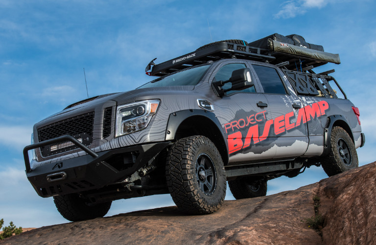 what can the nissan titan xd pro 4x project basecamp do. Black Bedroom Furniture Sets. Home Design Ideas