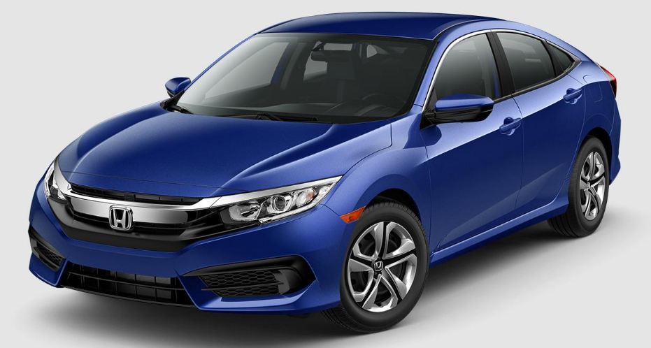 2017 Honda Civic Aegean Blue Metallic